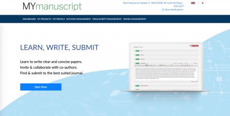 MyManuscript-homepage